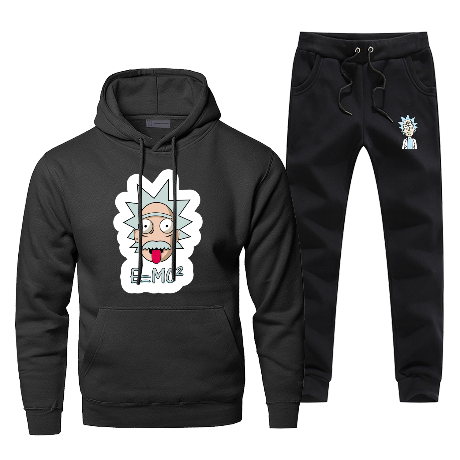 Funny Einstein E MC2 Men's Hoodies Fashion Rick And Morty Physics Science Hoodies Pants Sets Men Casual Sweatshirt Sportswear