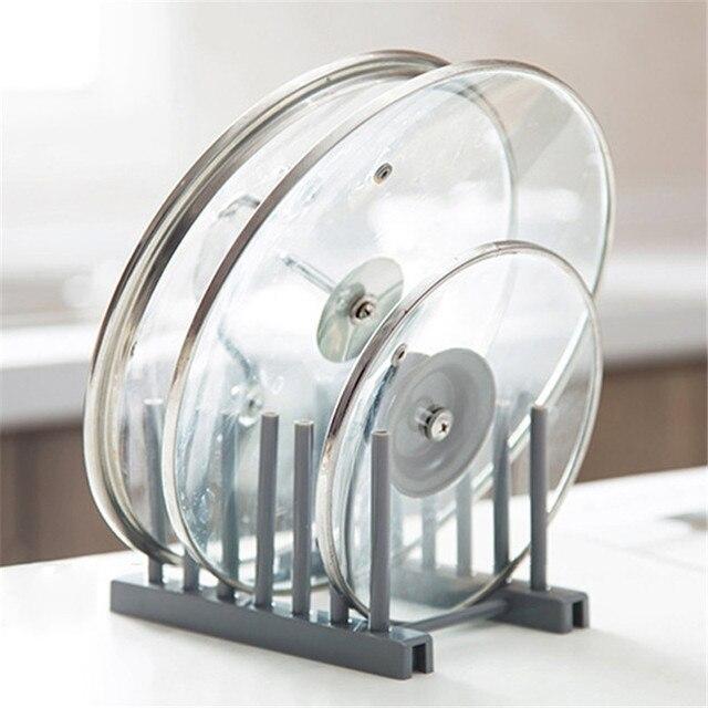 Kitchen Organizer Pot Lid Rack Spoon Holder Pot Lid Shelf Cooking Dish Rack Pan Cover Stand Kitchen Accessories