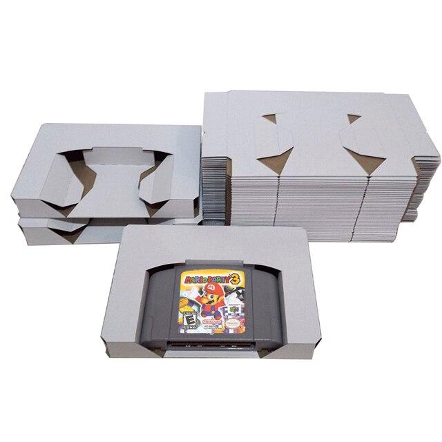 10 Cái/lốc Hộp Mực Thay Thế Bên Trong Ốp Hoa Lắp Khay Đựng N64 PAL & NTSC Hay Nintendo 64 CIB Game Hộp Mực