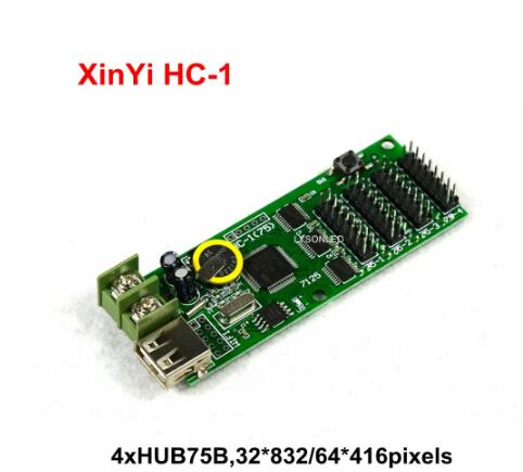 XY-UA HC-1 XINYI USB Port Full Color LED Control Card U-disk RGB Hub75 Led Display Controller Board P10 Led Display Control Card