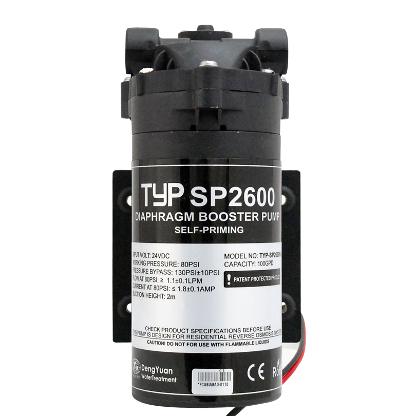 Coronwater TYP-SP2600 100 Gpd Self Priming RO Water Booster Pump In Reverse Osmosis System For Well, Storage Tank