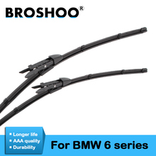 BROSHOO Car Windshield Wiper Blade Natural Rubber For BMW 6 Series E63 E64 F06 F12 F13 Fit Pinch Tab/Side Pin Arm 2003 To 2017 broshoo car windshield wiper blade natural rubber 24