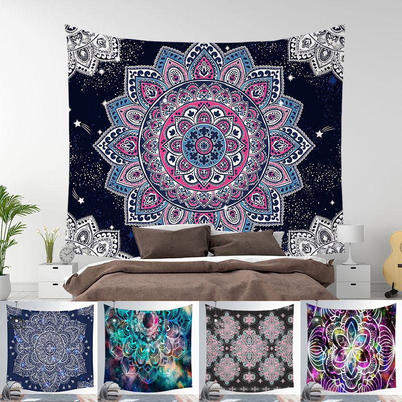 Image 2 - Indian Mandala Tapestry Wall Hanging Beach Blanket Hippie  Tapestry Home Decorative Bohemian Decorative Wall MatsTapestry   -