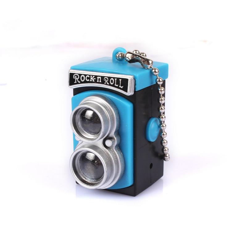 14# Portable Keyring Light Camera Flash Key Chain Mini LED Flashlight Keychain Funny Cute Key Chains Retro Lomo Gift