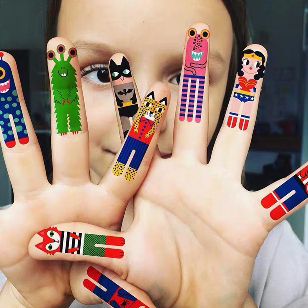 12pcs New Multi-style Child Tattoo Sticker Thumb Temporary Tell A Story Cartoon Anime Kids Colored