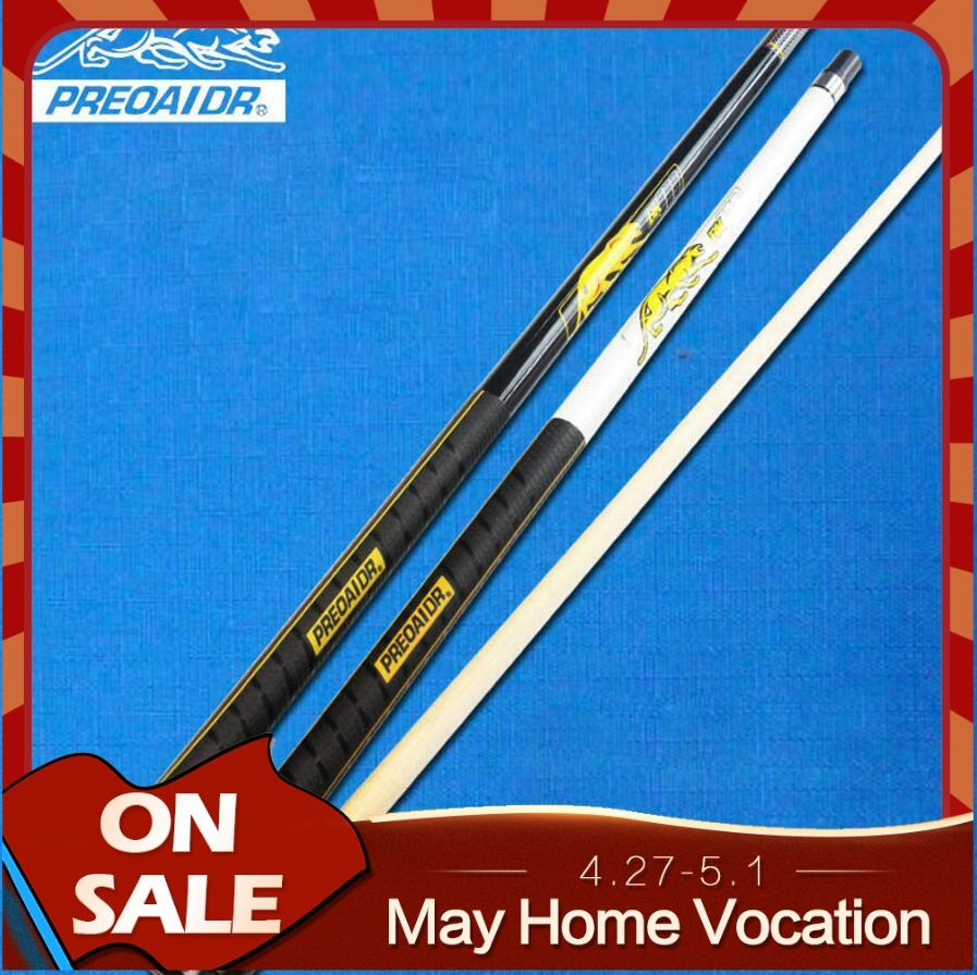 PREOAIDR  3142 BK Series Pool Cues Billiards Stick 11.5 mm 12.75mm Tip Black White Colors Pool Kit Durable Professional Billar