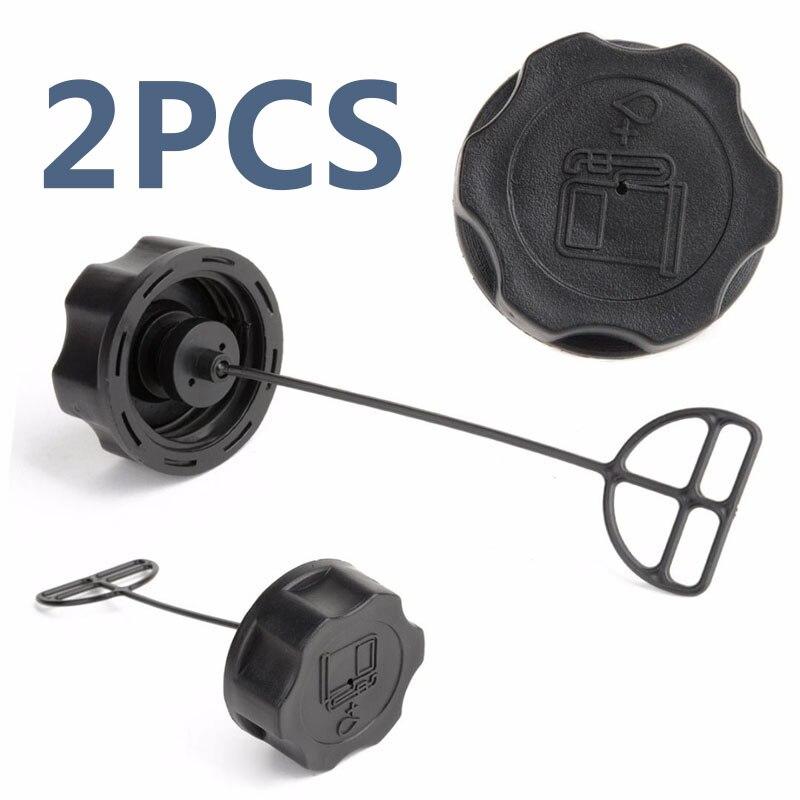 2pcs Black  Fuel Tank Cap Strimmer Hedge Trimmer Brush Cutter Plastic Fuel Tank Cap Lawn Mower Parts 43cc 49cc 52cc 55cc