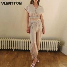 Женский винтажный костюм из двух предметов однотонная короткая