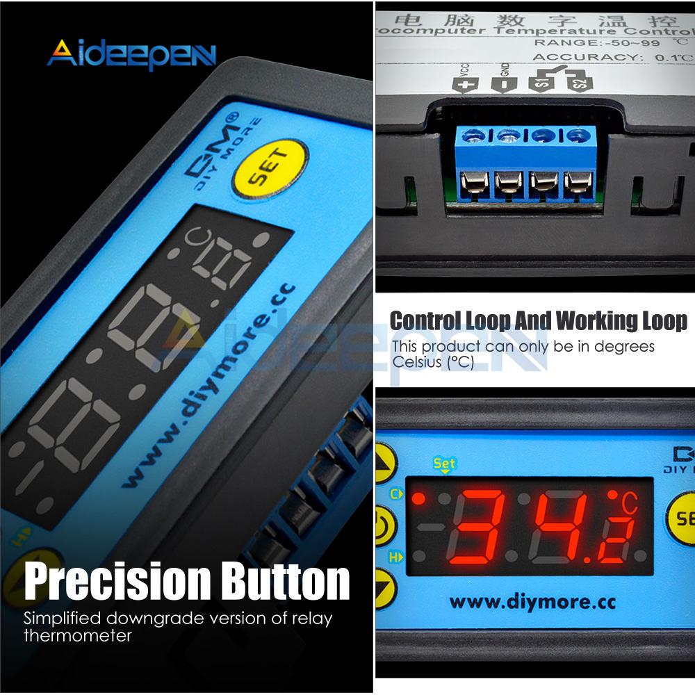 Hf13f037a03464084bed296f255e39591f W3230 AC 110V-220V DC12V 24V Digital Thermostat Temperature Controller Regulator Heating Cooling Control Instruments LED Display