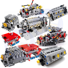 1 Set MOC - TECHNIC 8 SPEED SEQUENTIAL GEARBOX Educational Building Blocks Bricks Parts DIY Toys Compatible With 4911 Technic цены