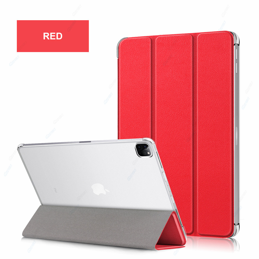 Red Red GZERMA Case For iPad Pro 12 9 2020 Smart Case Auto Wake Sleep Folio Cover For
