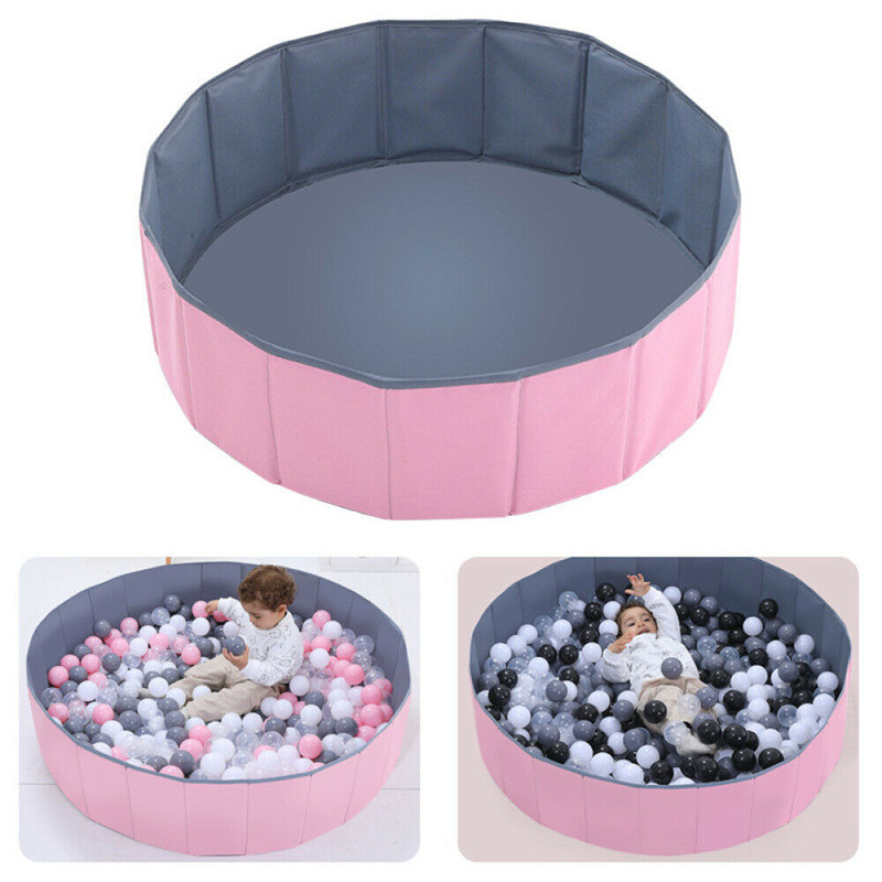 80cm Foldable Infant Ball Pits Pool Ocean Ball Playpen Toy Washable Fence Dry Pool With Balls Kids Birthday Children's Day Gift