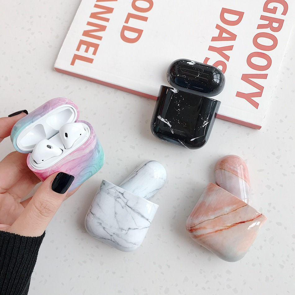 Case For Airpods Case Cover Soft Silicone Marble Earphone Case For Air Pods Case Accessories Headphone For Apple Airpods 2 Case
