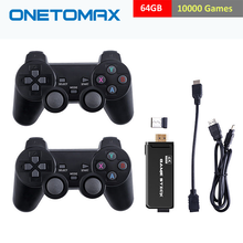 ONETOMAX Consola Retro TV Game Console 3000/10000 Classic Games HD 2.4G Double Wireless Controller Support For PS1/GBA Console