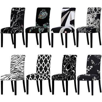 Stretch czarno-biały pokrowiec na krzesło uniwersalny rozmiar elastyczne pokrowce na krzesła pokrowiec na krzesło s pokrowce zdejmowane pokrowce na siedzenia bankietowe Hotel tanie i dobre opinie CN (pochodzenie) W jednym kolorze Nowoczesne krzesło plażowe Na fotel Hotel krzesło Krzesło na ślub Krzesło bankietowe