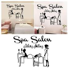 60x45cm Spa Salon Wall Sticker Beauty PVC Spa Shop Background Wall Decals Wallpaper For Home Decoration Stickers & Posters(China)