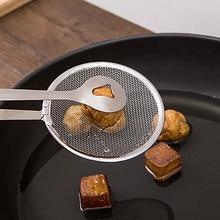 Нержавеющая сталь фильтр масло жареный небольшой Совок Кухонные инструменты Зажим уплотнение масляный фильтр Жарка Черпак для масла на месте