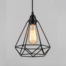 Vintage Pendant Lamp E27 Chandelier Ceiling Lights (No Bulbs) Industrial Retro Style (Cage Shape)(China)