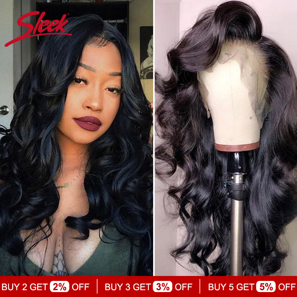 Sleek Brazilian Remy 13x4 Lace Front Human Hair Wigs 8-28 Inches Loose Wave Human Hair Wigs Pre Plucked Hairline With Baby Hair