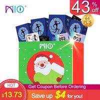 MIO маленькие презервативы размер для мужчин 49 мм шип презерватив в горошек Задержка эякуляции стимуляция больших частиц ультра тонкие секс-...