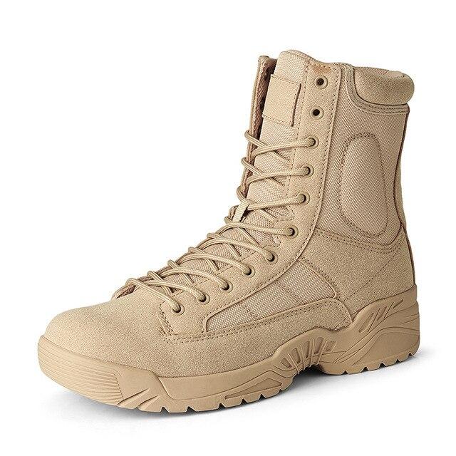 Botas militares para hombre zapatos de deporte de senderismo botines botas de seguridad para el trabajo