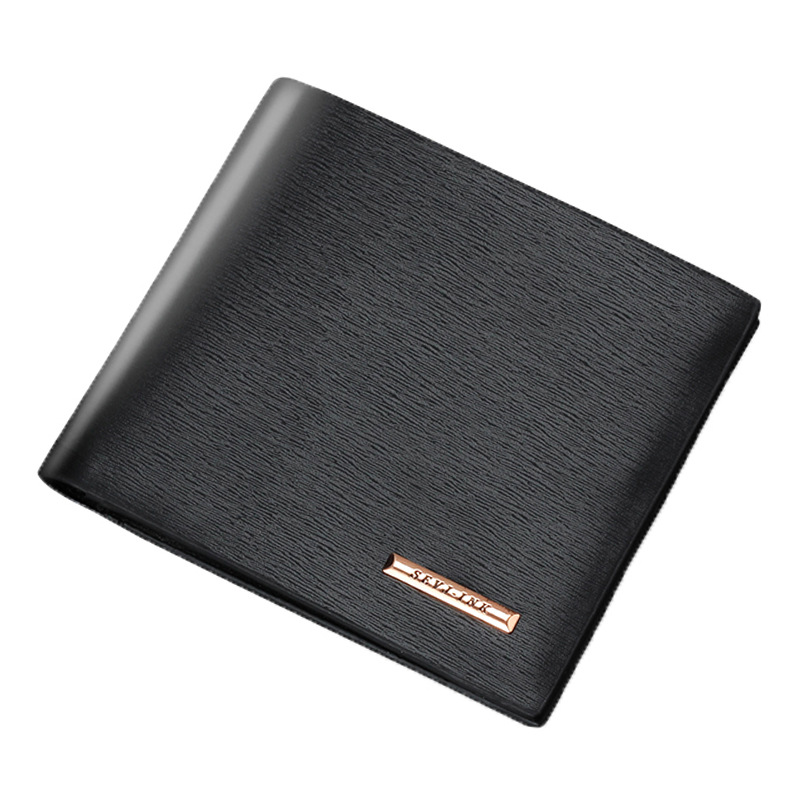 Men Wallets Leather Male Luxury Famous Brand Casual Quality Credit Card Holder Purse Wallet Coin Pocket Black Billetera Hombre