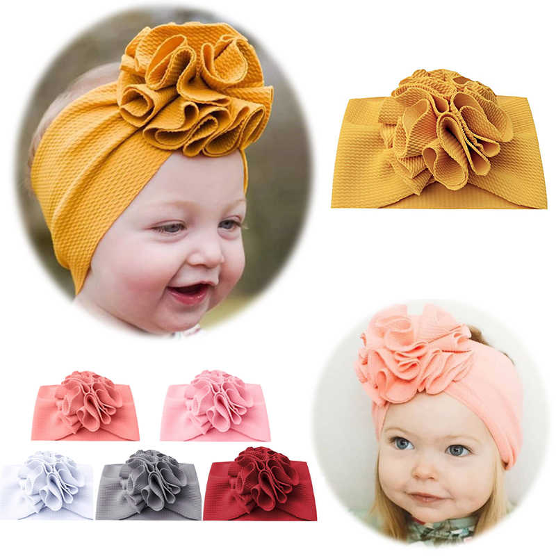Cute Baby Hair Band Baby Shower Elastic Bowknot Headwear Solid Color Head Band