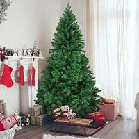 1.5M 1.8M 2.1M Encryption Artificial Christmas Tree With Iron Base 2020 New Year Gifts Xmas Decorations For Home 5/6/7 Ft