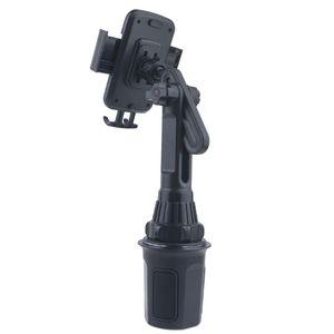 """Image 2 - כוס המכונית מחזיק טלפון הר מתכוונן זווית גובה Stand עבור 3.5 6.5 """"הסלולר"""