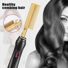 New Hair Straightener Flat Irons Straightening Brush Hot Comb Hair Straight Styler Corrugation Curling Iron Hair Curler Comb
