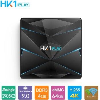Android 9.0 TV Box HK1 Play Amlogic S905X2 Quad Core 4GB 32GB 64GB 128GB Media Player 4K HD Set Top Box HK1play Smart TV Box