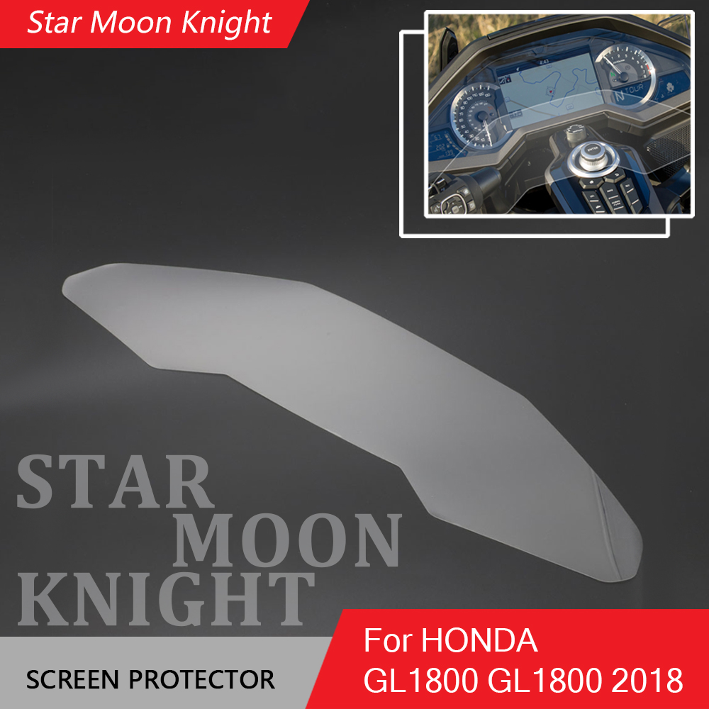 Coolsheep 2pcs Motorcycle Scratch Cluster Dashboard Protection Screen Instrument Film Protector for Honda Goldwing GL1800 2018 2019 2020