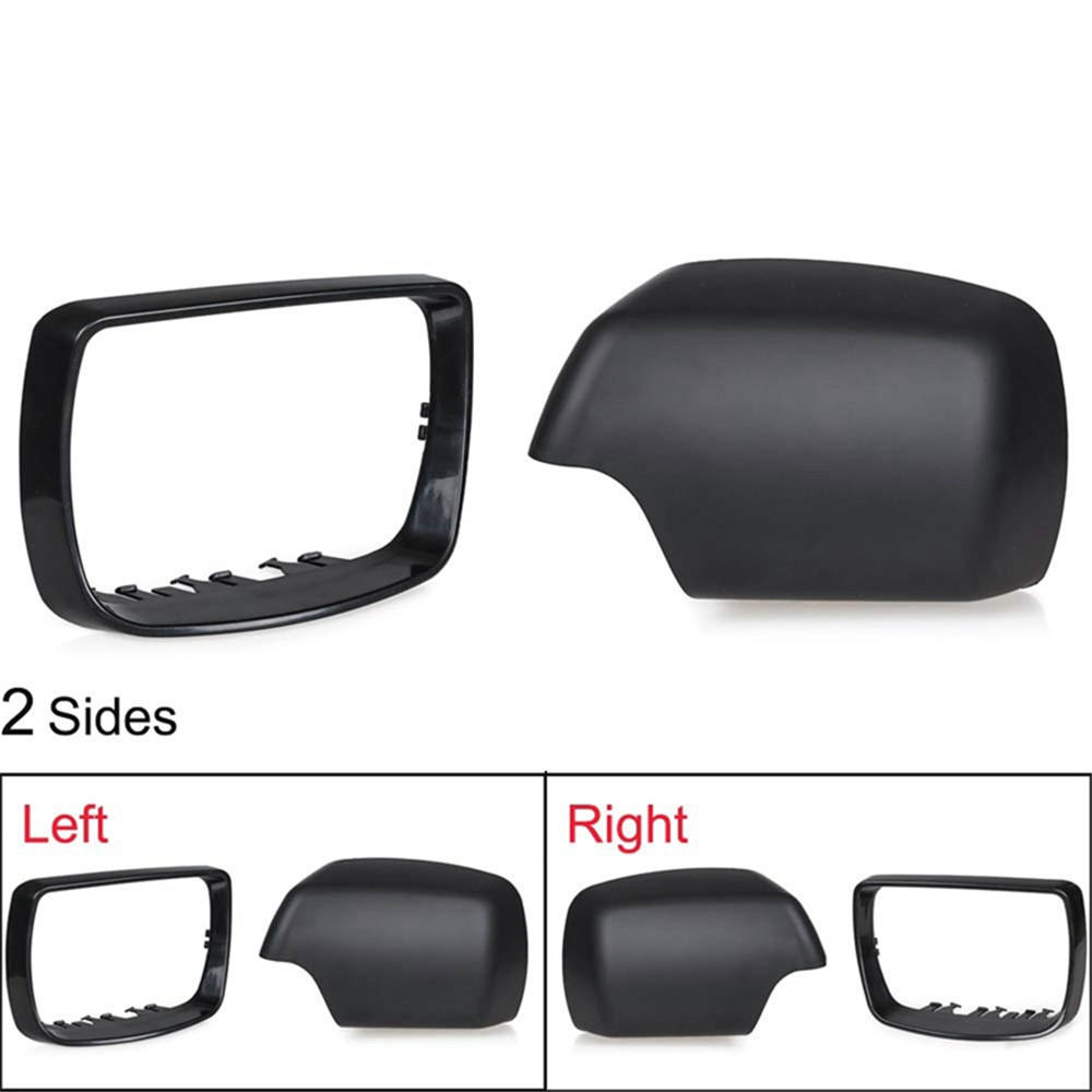 51168256321 Driver Side Rear View Mirror Cover Case Cap for BMW X5 E53 2000-2006