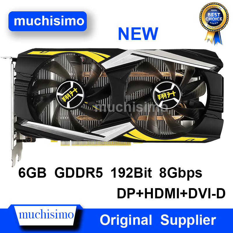 ASL Graphics Card Original GTX 1660 6GB 192Bit 8Gbps GDDR5 Video Cards for nVIDIA Geforce DP HDMI DVI VGA Cards NEW