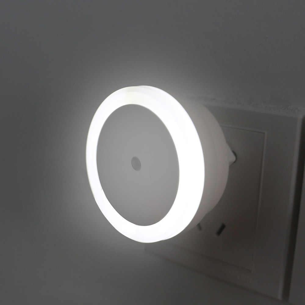 LED Night Light Sensor ควบคุม Night โคมไฟประหยัดพลังงาน LED SENSOR โคมไฟ EU Plug Nightlight สำหรับห้องนอนเด็ก 0.5W @