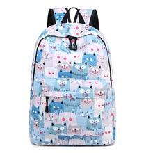 Backpack for Girl Boy Cute Mochilas Escolares Infantis School Bags Cartoon Cat knapsack Rucksack Casual Women