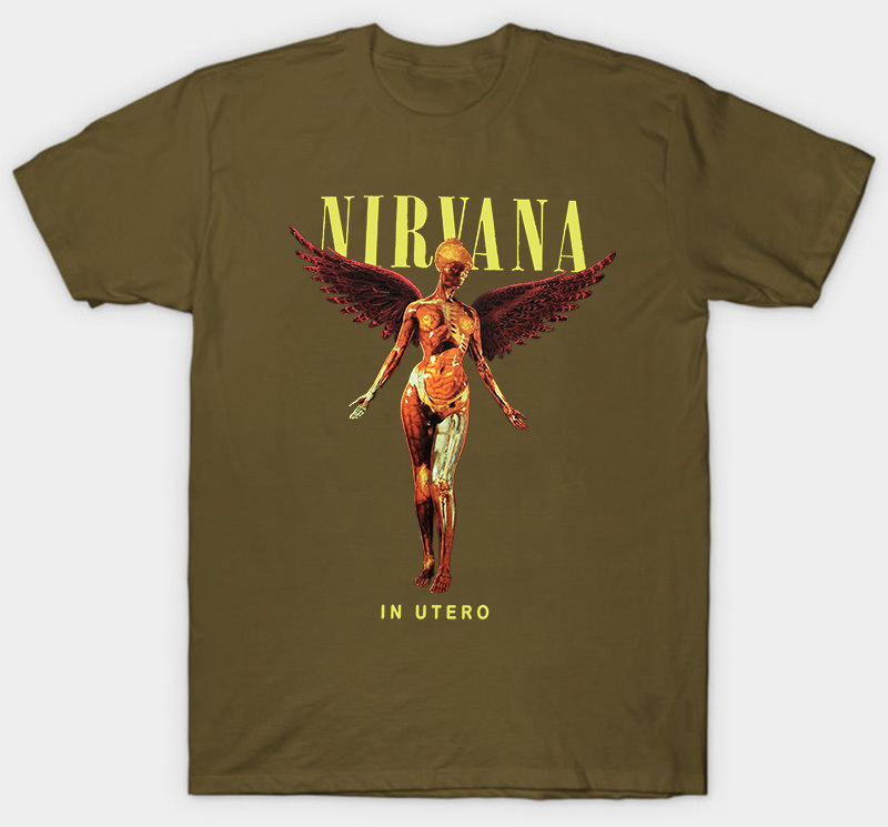 OFFICIAL Charcoal Nirvana /'In Utero Colour/' T-Shirt Amplified