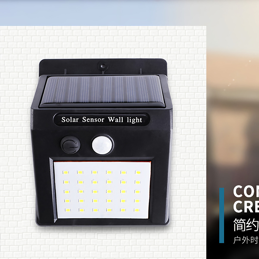 20/<font><b>30</b></font> <font><b>LED</b></font> Outdoor <font><b>Solar</b></font> Light PIR Motion Sensor <font><b>Solar</b></font> Garden Light Energy Saving Street Path Wall Lamp image