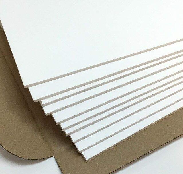 200*300mm Plain White Foam Board Plastic PVC Sheet DIY Model Building Craft 3mm Thick 1/5/10pcs You Choose Quantity