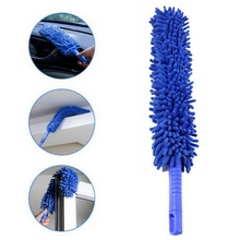 1 pcs 16 inch flexible blue car wash brush long microfiber noodle chenille alloy wheel cleaner Extra Long Flexible Soft Microfiber Chenille Car Wheel Wash Brush Microfiber Wheel Cleaner Car Wash Accessories Home Clean Tools