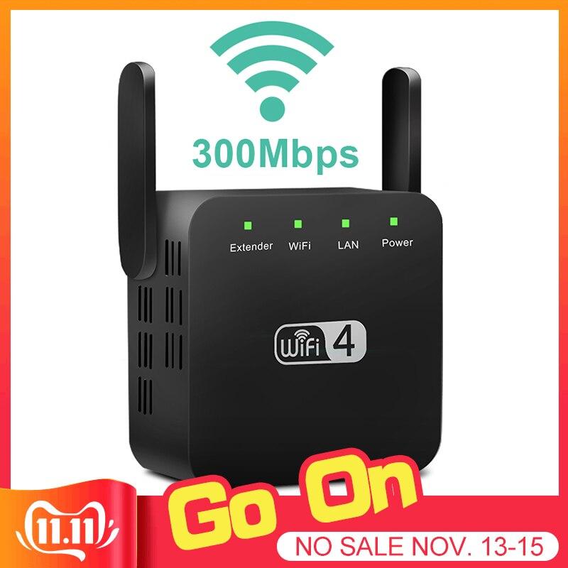 Wireless WiFi Repeater Wifi Extender 300Mbps Wi-Fi Amplifier Long Range Wifi Signal Booster Ultraboost Wifi Repiter Access Point