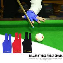 Snooker-Billiard-Cue-Glove Billiards Fitness-Accessories Three-Fingers-Glove Left-Hand