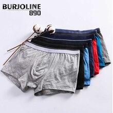 890 7 unids/lote Boxer de algodón para hombre Simple Sexy Youth Underwear Shorts cómodos y transpirables calzoncillos 9N25