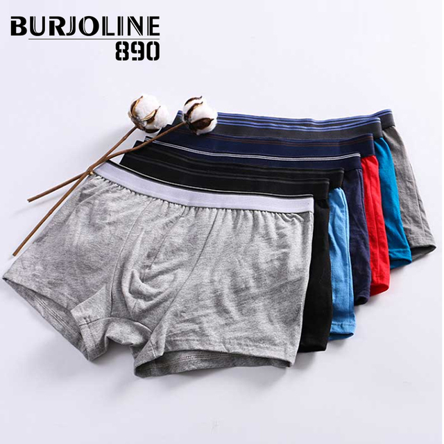 890 7pcs/lot Mens Cotton Boxer Simple Sexy Youth Underwear Shorts Comfortable and Breathable Underpants 9N25