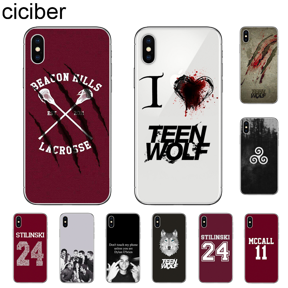 ciciber Teen Wolf Phone Cases For Apple iPhone 11 Pro Max X XR XS MAX 7 8 6 6s Plus 5 5S SE Soft TPU Cover Coque Fundas Shell