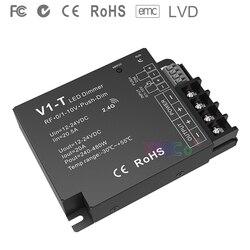 V1-T 3 w 1 ściemnianie kontroler led 1CH * 20A 12-24VDC CV 0/1-10V Push-Dim automatyczna transmisja synchronizacja RF 2.4GHz led strip ściemniacz