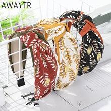 Awaytr Топ узел эластичная чалма повязка на голову для женщин