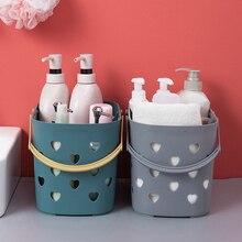 Bin Storage-Basket Bathroom-Organizer Kitchen Portable Home Toy-Box Soap-Holder Hollow