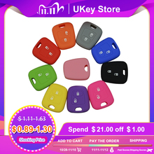 OkeyTech Silicone Car Key Cover Holder for Peugeot 206 307 207 408 For Citroen C2 C3 C4 Soft Rubber 2 Button Key Fob Case Shell