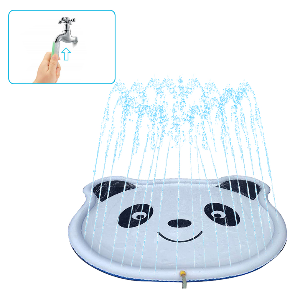 Play Games Mat With Friend Kids Panda Inflatable Water Spray Mat Play Sprinkler Games Pad For Outdoor Lawn Sports Toys